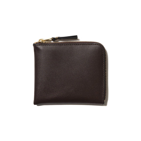 COMME des GARÇONS Classic Leather Line Half Zip Wallet Brown