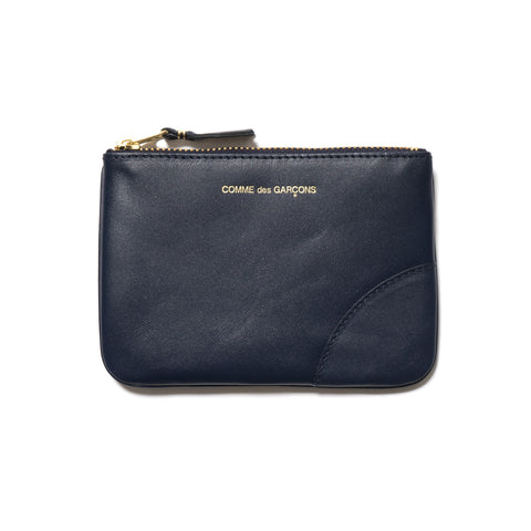 Classic Leather Line Zip Pouch Navy