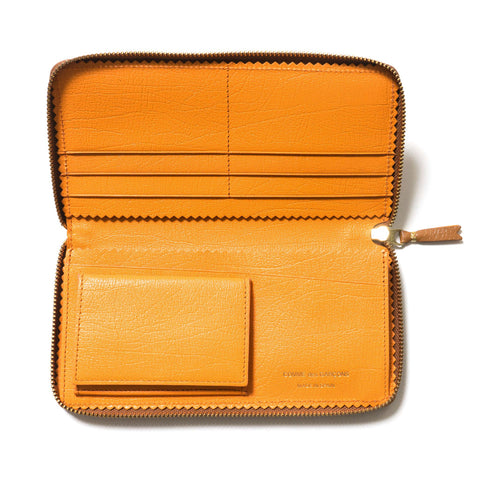 COMME des GARÇONS Colour Inside Long Wallet Brown/Orange