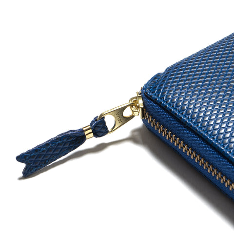 COMME des GARÇONS Luxury Group Leather Full Zip Wallet Blue
