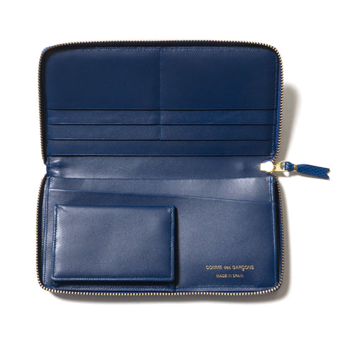 COMME des GARÇONS WALLET Luxury Group Leather Long Wallet Blue