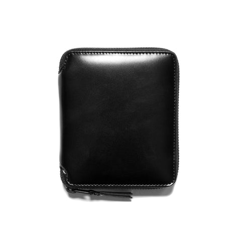 COMME des GARÇONS Very Black Leather Line Full Zip Wallet Black