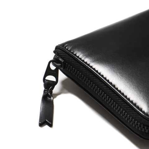 COMME des GARÇONS Very Black Leather Line Long Wallet Black