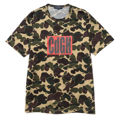 comme des garcons homme Cotton Jersey Camouflage Patterns Garment Printed Tee brown