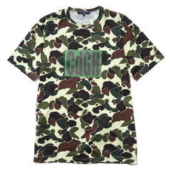 comme des garcons homme Cotton Jersey Camouflage Patterns Garment Printed Tee Green