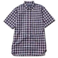 Comme des Garcons HOMME Cotton Panama Tartan Check x Cotton Stripe SS Shirt