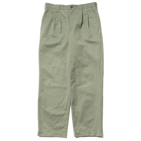 comme des garcons homme Cotton Twill Garment Washed Pants green