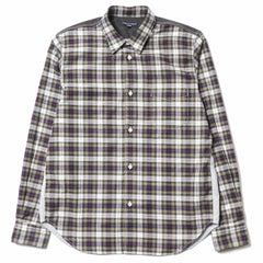 CdG HOMME Cotton Twill Tartan Check Shirt Khaki/Navy/Red