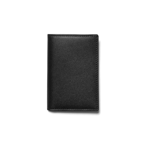 comme des garcons wallet Classic Line Leather Card Case Black