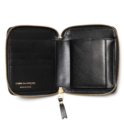 comme des garcons wallet Classic Line Leather Full Zip Wallet