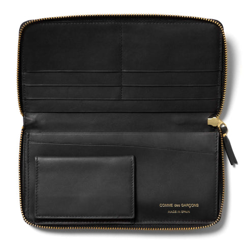 Comme des Garcons Embossed Stitch Line Long Wallet Black