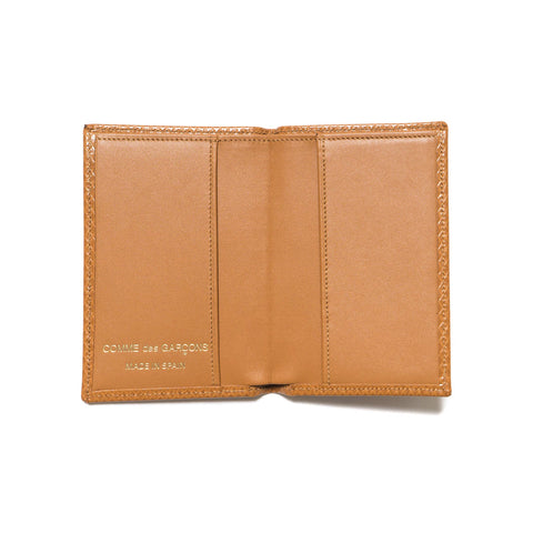 Comme des Garcons WALLET Luxury Group Leather Card Case Beige