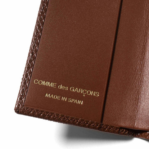 comme des garcons wallet Luxury Group Leather Card Case Brown