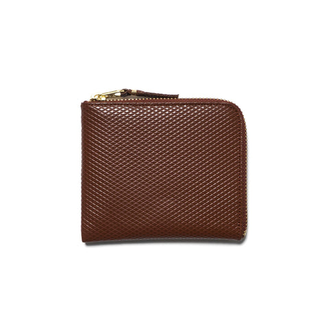 comme des garcons wallet Luxury Group Leather Half Zip Wallet Brown