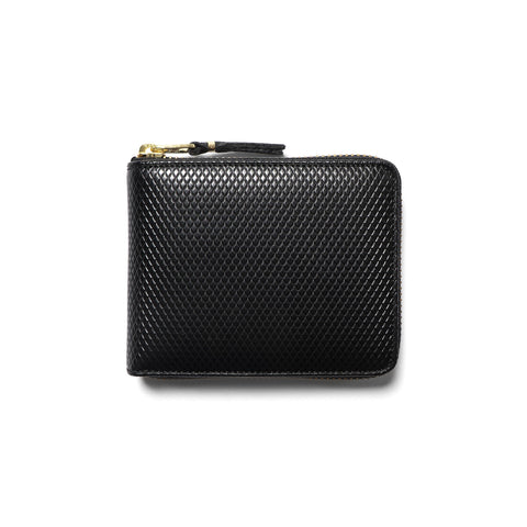 comme des garcons Luxury Group Leather Small Full Zip Wallet Black