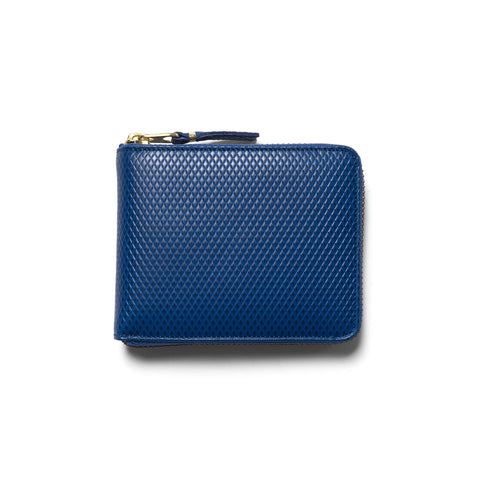 comme des garcons Luxury Group Leather Small Full Zip Wallet Blue