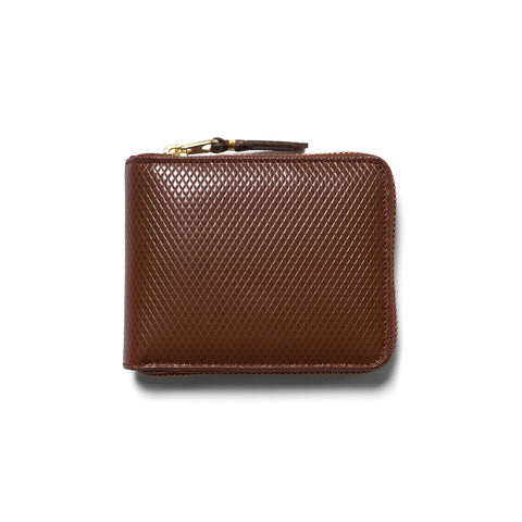 comme des garcons Luxury Group Leather Small Full Zip Wallet Brown