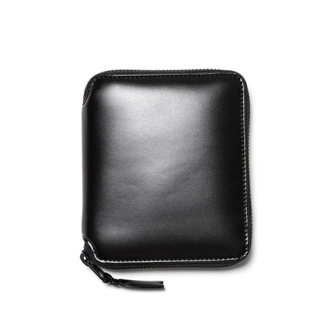 comme des garcons wallet Very Black Line Leather Full Zip Wallet