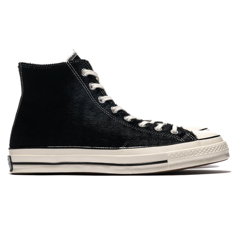 Converse Chuck 70 Pony Hair Hi Black/Egret/Natural, Footwear