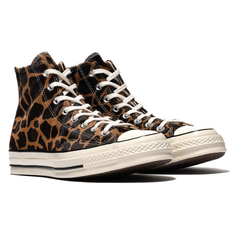 Converse Chuck 70 Pony Hair Hi Brown/Tan/Egret, Footwear
