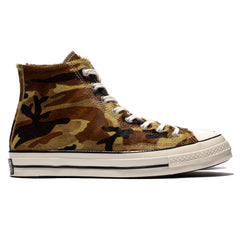 Converse Chuck 70 Pony Hair Hi Green/Black/Egret, Footwear