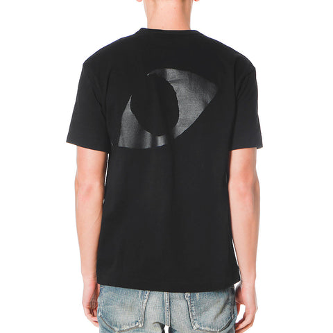 Cotton Jersey Print Black Eyes Logo Tee Black
