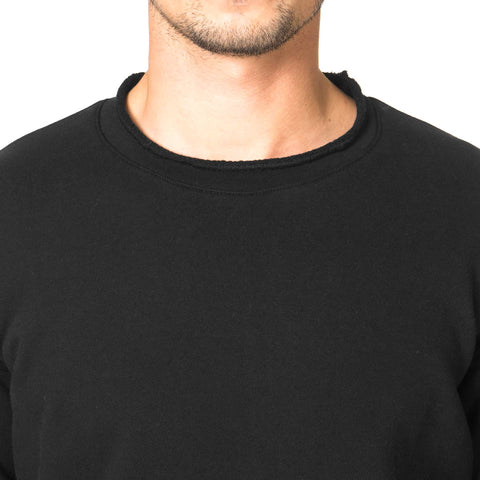 CYPRESS Lightweight 3/4 Crewneck / French Terry Black