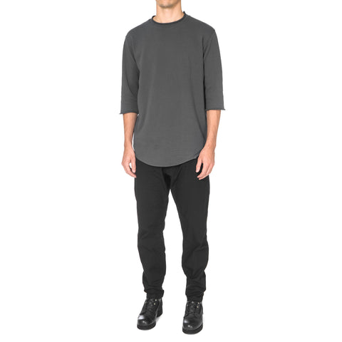CYPRESS Lightweight 3/4 Crewneck / French Terry Charcoal