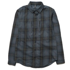 CYPRESS Utility Shirt / Overdyed Flannel Navy