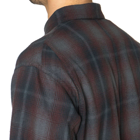 CYPRESS Utility Shirt / Overdyed Flannel Red