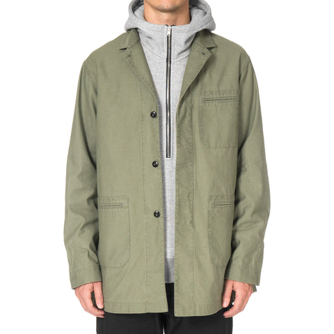 CYPRESS Welt Shop Coat / Satin LT Olive