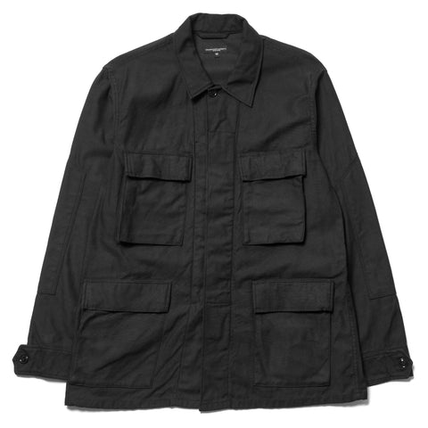 Engineered Garments BDU Jacket Cotton Reversed Sateen Black