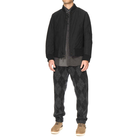 engineered garments Benson Pant / Argyle Wool Dobby Charcoal