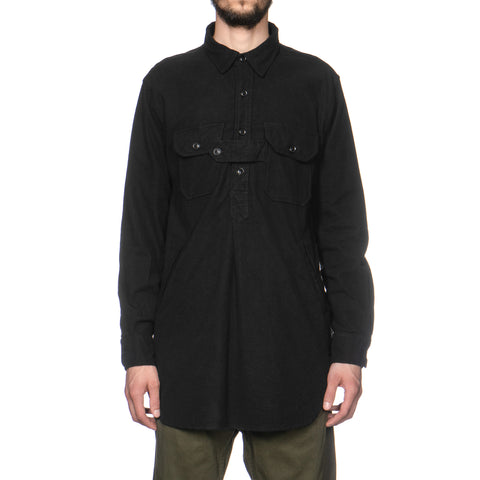 Engineered Garments Bird Shooter Shirt Cotton Flannel Black