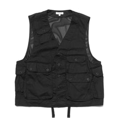 Engineered Garments C-1 Vest/ Malibu Poplin Black