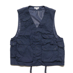 Engineered Garments C-1 Vest/ Malibu Poplin Dark Navy