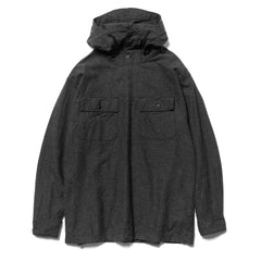 Engineered Garments Cagoule Shirt Cotton Flannel Heather Charcoal