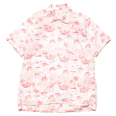 Engineered Garments Camp Shirt/ Flamingo Print Pink