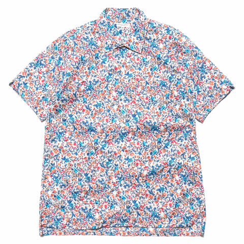 Engineered Garments Camp Shirt/ Garden Floral Lawn Light Gray