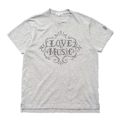 Engineered Garments Cross Crew Neck T-Shirt/ Love and Music Gray