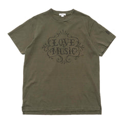 Engineered Garments Cross Crew Neck T-Shirt/ Love and Music Olive