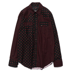 Engineered Garments Sawtooth Western Shirt Big Star Print Combo Black/Red