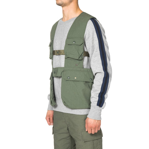 Engineered Garments Shooting Vest - Nyco Ripstop Olive
