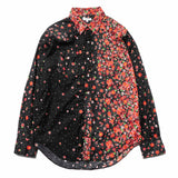 Western Shirt/ Big Floral Lawn Red/Black