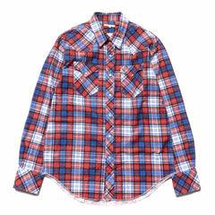 Engineered Garments Western Shirt/ Cotton Plaid Red/Royal Blue