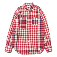 Engineered Garments Work Shirt/ Big Plaid Madras Red/Navy/Light Blue