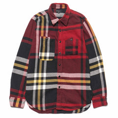 Engineered Garments Work Shirt Heavy Twill Plaid Black/Red/Yellow