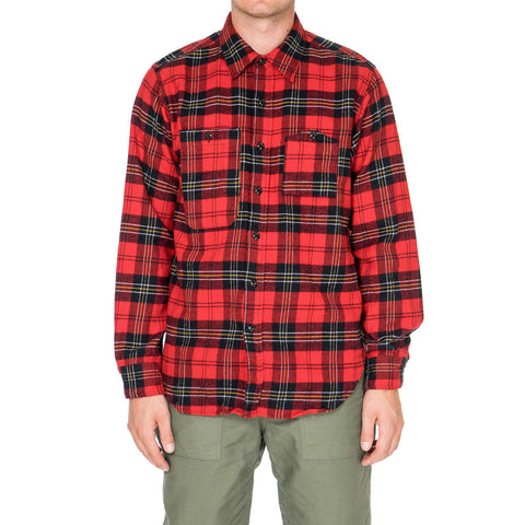Engineered Garments Work Shirt/ Plaid Flannel Red/Black