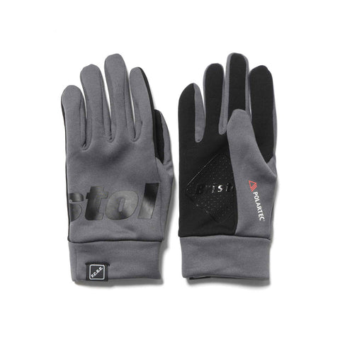F.C.R.B. Polartec Fleece Touch Glove Gray