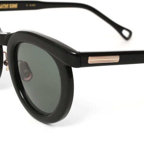 """Fuller"" Sunglasses Black / White Gold"